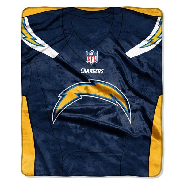 NFL 07080 Chargers Jersey Raschel Throw
