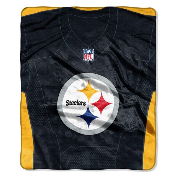 NFL 07080 Steelers Jersey Raschel Throw