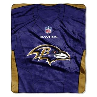 NFL 07080 Ravens Jersey Raschel Throw