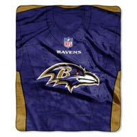 NFL 07080 Ravens Jersey Raschel Throw