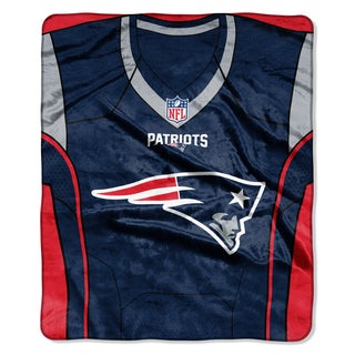 NFL 07080 Patriots Jersey Raschel Throw