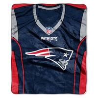 NFL 07080 Patriots Jersey Raschel Throw