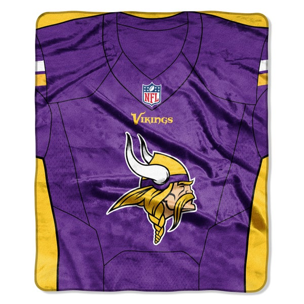 more photos 6dafb cb2c2 NFL 07080 Vikings Jersey Raschel Throw - Purple/Gold