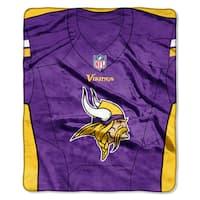 NFL 07080 Vikings Jersey Raschel Throw