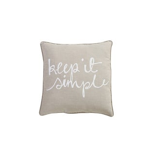 VCNY Home Keep it Simple Decorative Pillow