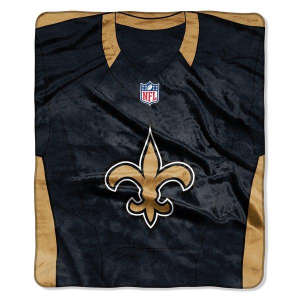 NFL 07080 Saints Jersey Raschel Throw