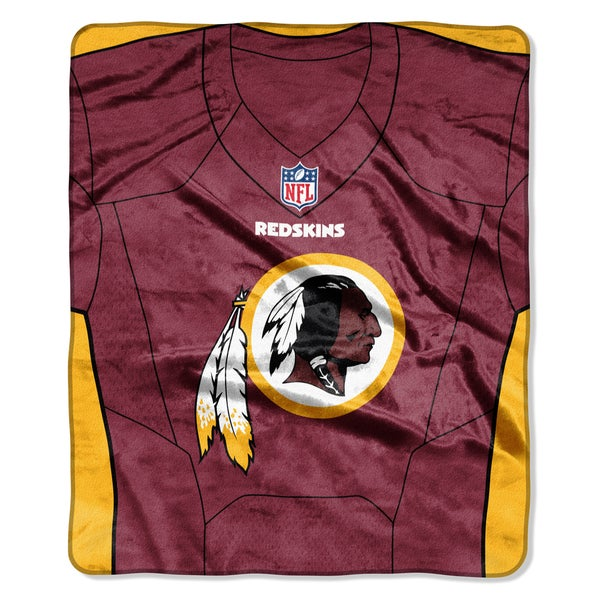 NFL 07080 Redskins Jersey Raschel Throw