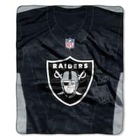 NFL 07080 Raiders Jersey Raschel Throw