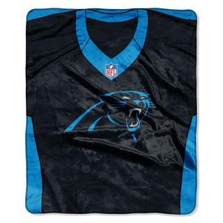 NFL 07080 Panthers Jersey Raschel Throw