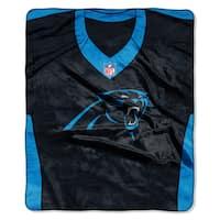 NFL 07080 Panthers Jersey Raschel Throw