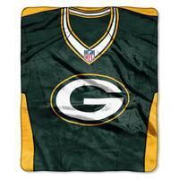 NFL 07080 Packers Jersey Raschel Throw