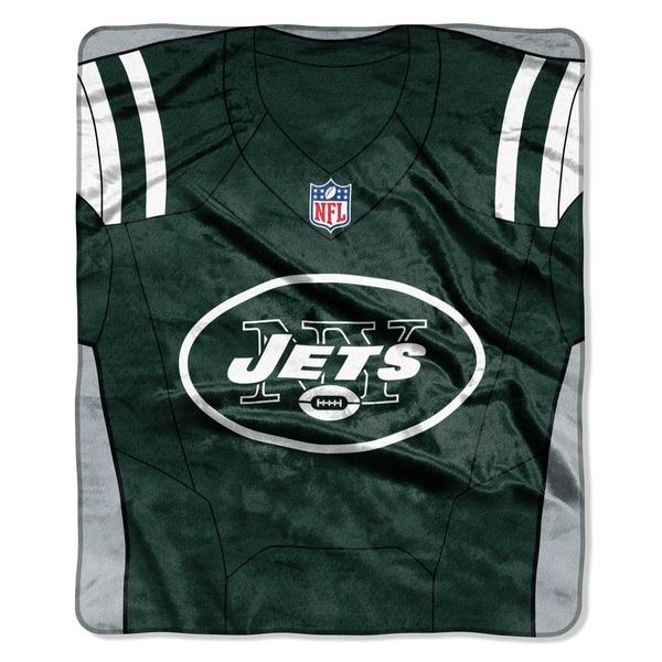 NFL 07080 Jets Jersey Raschel Throw