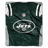 NFL 07080 Jets Jersey Raschel Throw