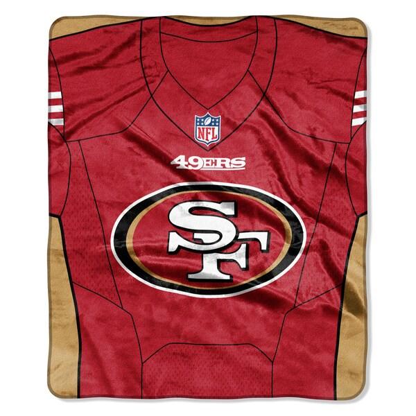 NFL 07080 49ers Jersey Raschel Throw