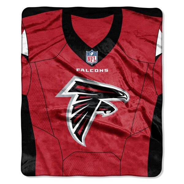 NFL 07080 Falcons Jersey Raschel Throw