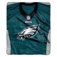 NFL 07080 Eagles Jersey Raschel Throw