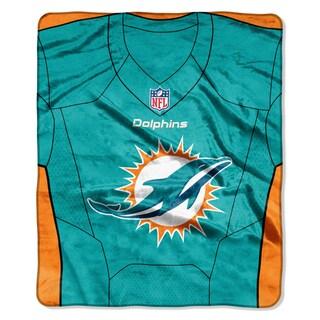 NFL 07080 Dolphins Jersey Raschel Throw