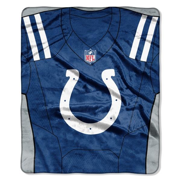 NFL 07080 Colts Jersey Raschel Throw