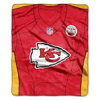 NFL 07080 Chiefs Jersey Raschel Throw