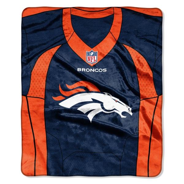 NFL 07080 Broncos Jersey Raschel Throw