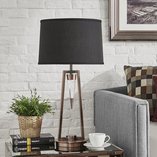 Caelum Bronze LED Starburst Table Lamp by iNSPIRE Q Bold