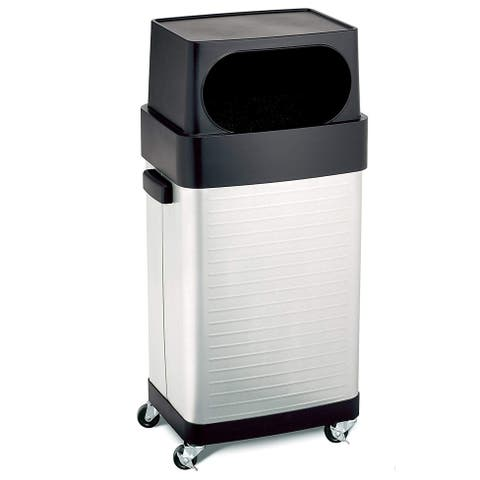 Seville Classics 17-Gallon UltraHD Commercial Heavy-Duty Stainless Steel Trashcan