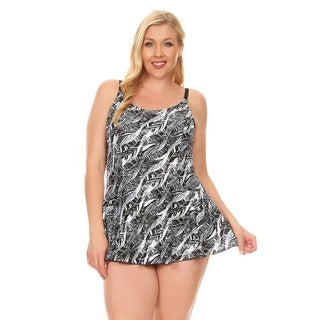 Famous Maker Black Tribe Women's Plus Size Women's One Piece Swimdress