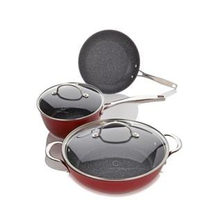 Curtis Stone Cookware Set Dura-Pan Nonstick 5-piece Essentials + Recipes