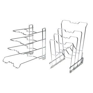 4-Tier Pan Organizer Rack, Chrome (2-Pack