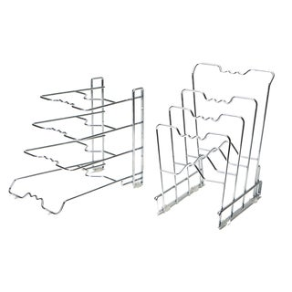 4-Tier Pan Organizer Rack, Chrome (2-Pack)