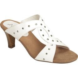 Women's A2 by Aerosoles Powssibility Sandal White Faux Leather