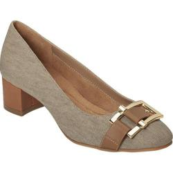 Women's A2 by Aerosoles Sketch Pad Heel Tan Combo Fabric/Faux Leather