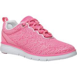 Women's Propet TravelFit Pro Sneaker Pink/White Jacquard Knit