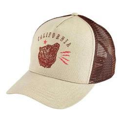 San Diego Hat Company Canvas Trucker Hat with Cali Bear SLW1005 Khaki
