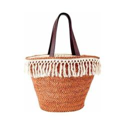 Women's San Diego Hat Company Cornhusk Tote BSB1713 Natural