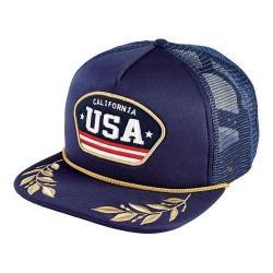 San Diego Hat Company Foam Back USA Trucker Hat SLW1008 Navy