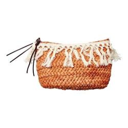 Women's San Diego Hat Company Fringe Opening Clutch BSB1709 Natural