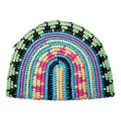 Women's San Diego Hat Company Paper Clutch with Zip Closure BSB1702 Multi