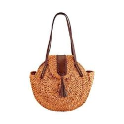 Women's San Diego Hat Company Round Cornhusk Tote BSB1708 Natural