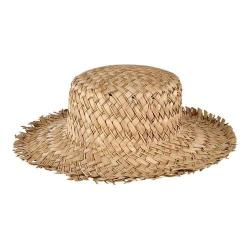 Women's San Diego Hat Company Seagrass Boater with Frayed Edge SGF2014 Natural