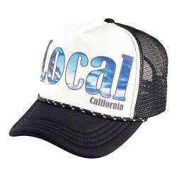 San Diego Hat Company Sublimated Local Trucker Hat SLW1010 Black/White