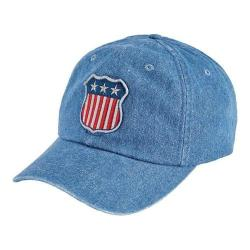 San Diego Hat Company Unstructured/Curved Brim Cap with Patch SLW1006 Denim