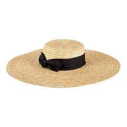 Women's San Diego Hat Company Wheat Straw Wide Brim Boater Hat WSH1109 Natural