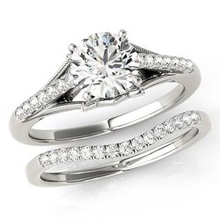 Scintilenora Antique Deco Diamond Bridal Wedding Set 18k Gold 1 1/6 TDW
