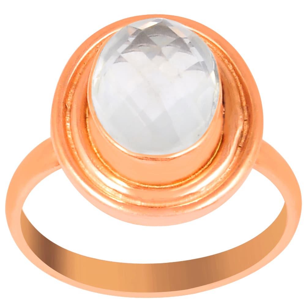 Orchid Jewelry 2 1/5 Carat Rose Quartz Pink Gold Overlay ...