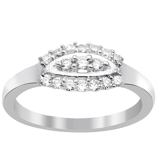 Orchid Jewelry Pave Set Cubic Zirconia 925 Sterling Silver Ring