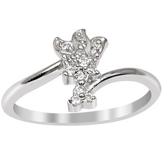 Orchid Jewelry Cubic Zirconia 925 Sterling Silver Ring For Women S