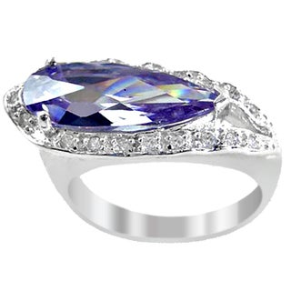 Orchid Jewelry Cubic Zirconia 925 Sterling Silver Ring