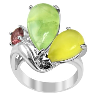Orchid Jewelry Cubic Zirconia 925 Sterling Silver 3-Stone Ring