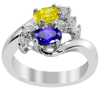 Orchid Jewelry Cluster Cubic Zirconia 925 Sterling Silver Ring
